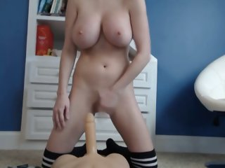 Epic dildo riding and a squirt