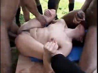 Skinny Slut - BBC Gangbang..