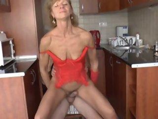 skinny granny got her old..