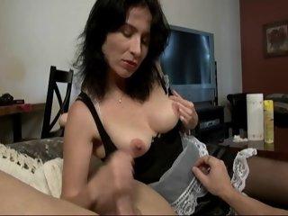 Maid Gives A Handjob And..