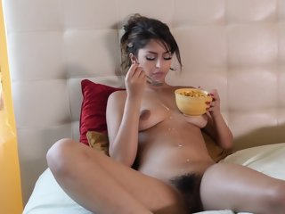 Sophia Leone gets her hairy..