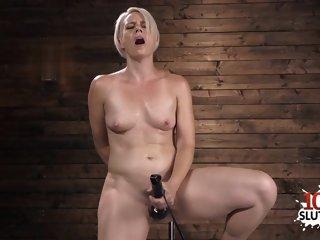 Sexy pornstar dildo with..