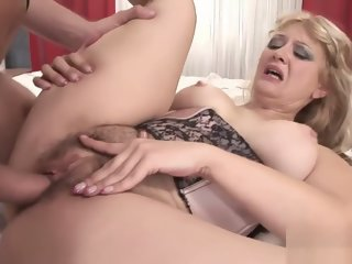 Chubby Blonde Has Her Hairy..