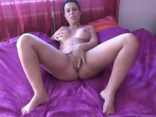 Busty Brunette Mom Takes Amazing Creampie