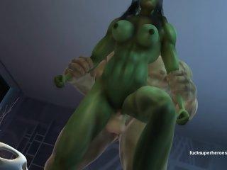 She hulk and Hulk