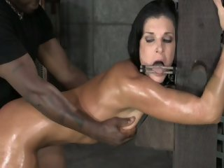 Bondage breeding leaves her..