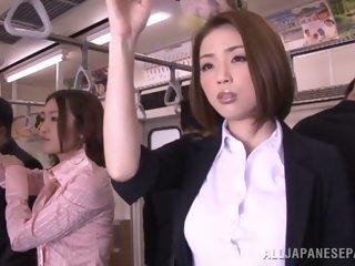 Horny Asian model gets hard..