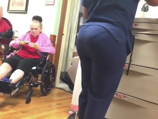 BUBBLE BUTT ON THIS NURSE!!!