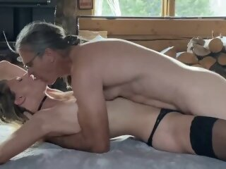 hot couple fireside fuck caning fire sex tit smacking sexy lingerie fuck