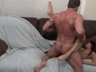 Squirter Pounded by Hung Stud