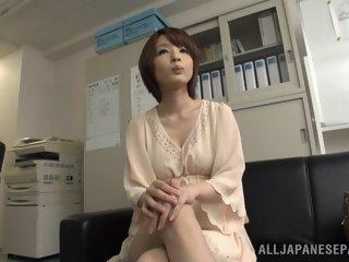 Arousing short-haired Asian..