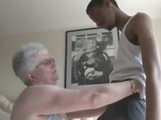 Big Boobied Grandma Tries..