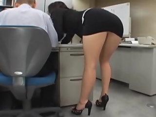 Japanese office girl gets..