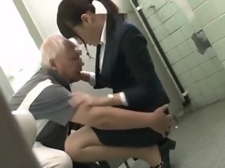 Japanese Grandpa having fun..