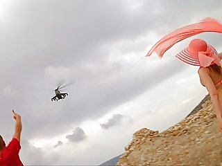 Caught naked by army copter...