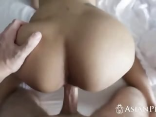 Asian cutie rides..