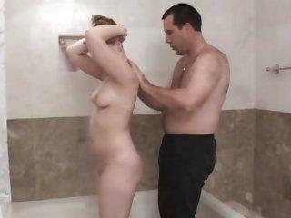 Amber Peach rub the cock of..