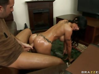Sexy fat ass whore Jewels bending over and getting fucked hard from the back