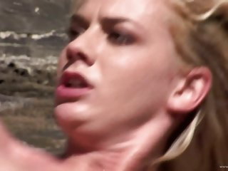 Chloe Delaure enjoys a rough..