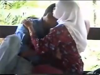 Muslim Couple In Park